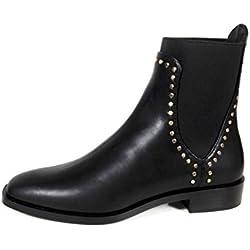 Zara Women Flat ankle boots with silver studs 7162/201 (39 EU | 8 US | 6 UK)