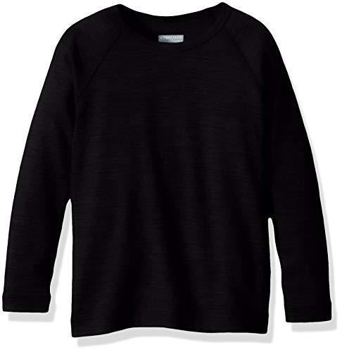 (Icebreaker Merino Kids' 200 Oasis Long Sleeve Crewe, Black, Size 03)
