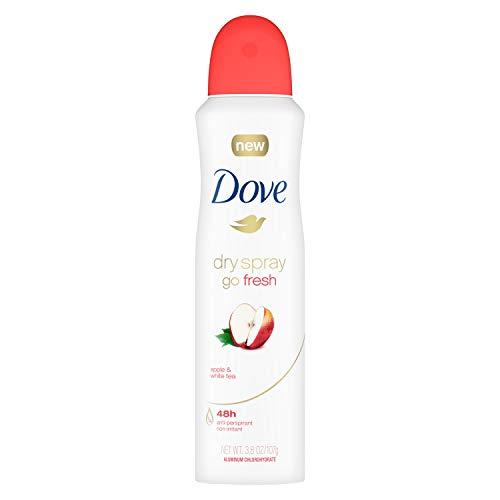 (Dove Dry Spray Go Fresh Antiperspirant Apple & White Tea 3.8 oz (Pack of 2))