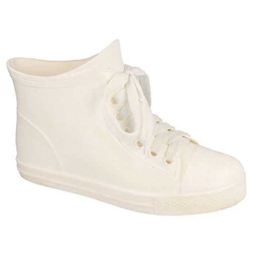 Boots up Lace Wellington Ladies Spot Fuchsia Ankle Style On Womens Baseball aTgRC6