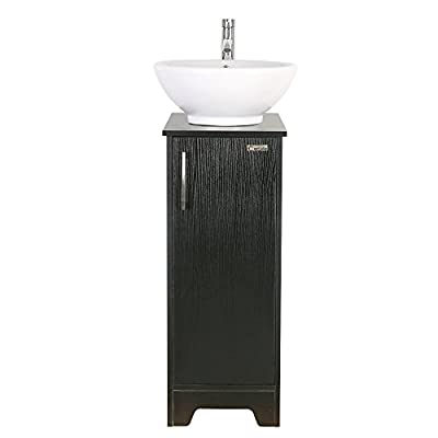 13 inch Modern Bathroom Vanity Units Cabinet And Sink Stand Pedestal with White Ceramic Vessel Sink with Chrome Bathroom Solid Brass Faucet and Pop Up Drain Combo