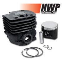 (NWP Piston & Cylinder Assembly (50mm) for Husqvarna 362, 365, 371, 372, Jonsered 2071, 2171)