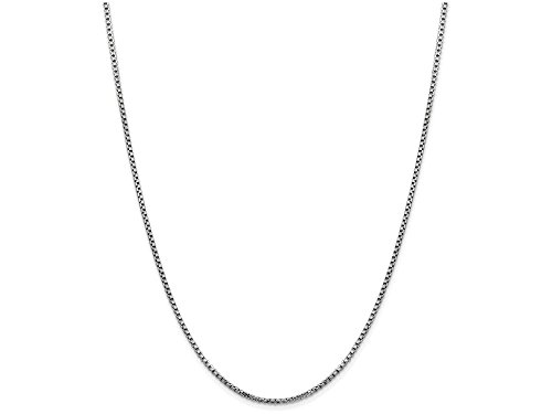 White Gold Round Box Chain (Finejewelers 18 Inch 14k White Gold 1.75mm Round Box Chain Necklace)