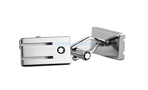 Mont Blanc Ring (MONTBLANC STAINLESS STEEL CUFFLINKS RECTANGULAR 3 RINGS NEW GERMANY 105888)