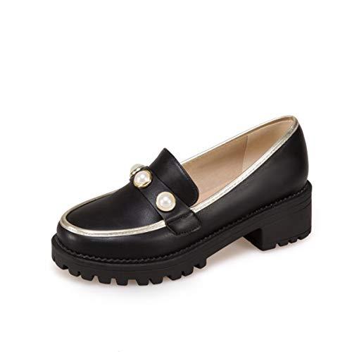 Per Resistente Scarpe Donna O Lazy La Da Bocca Shoes All'usura Shopping Pearl Impermeabile Casual 37eu black Nuova Lo Antiscivolo Piattaforma Festa Bassa ZwZqArxpY