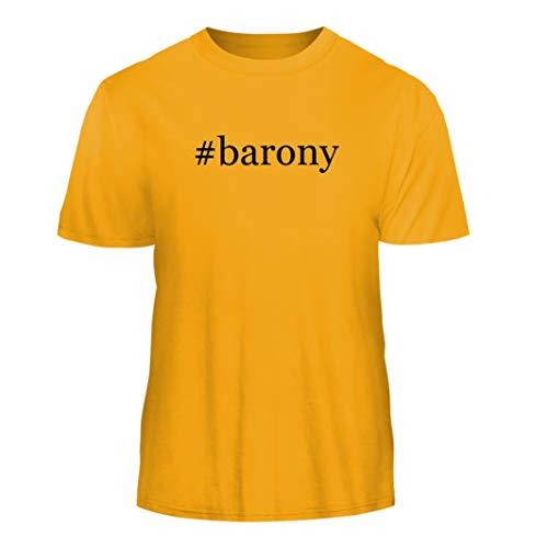 - Tracy Gifts #Barony - Hashtag Nice Men's Short Sleeve T-Shirt, Gold, X-Large