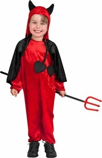Devil Costume Toddler Boys (Charades Baby Girls' Darling Devil Costume, As Shown, Toddler (1 to 2)