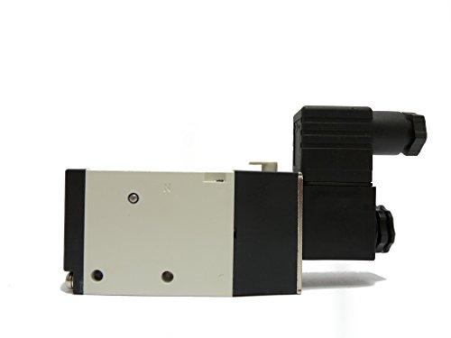 MVSC-300-4E1-DC24-NPT Solenoid valve, body ported type, 3/8 port size NPT, 4 way, single solenoid, DC24V, DIN connector