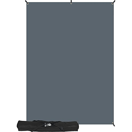 Westcott X-Drop Kit with 5' x 7' Neutral Gray Backdrop (1.5 x 2.1 m) by Westcott