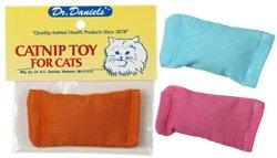 Dr Daniels Cat Toy 3X1.8 Catnip Pillow Sack Corduroy (1 (Catnip Filled Ball Pillows)