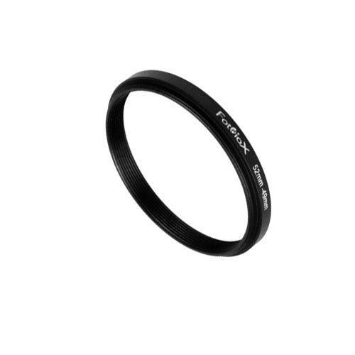 Fotodiox Metal Step Down Ring Filter Adapter, Anodized Black Aluminum 52mm-49mm, 52-49 mm ()