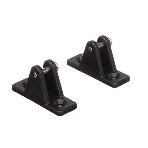 (Seachoice 76251 Plastic Deck Hinges for Bimini Top - Black - Stainless Steel Screws - Pack of 2, One Size)