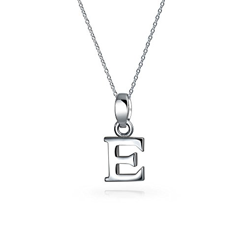 925 Silver Block Letter Initial Capital Letter