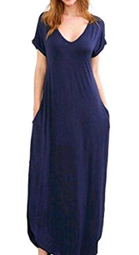 Tacca donne Orlo Collare Partito Randello Coolred Asimmetrico Allentato Vestito Pattern1 Del Manica Corta Fashional dIqwCxZH