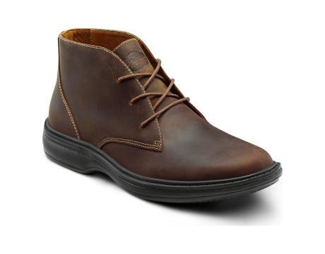 Picture of Dr. Comfort Ruk Men's Therapeutic Diabetic Extra Depth Boot leather lace-up - Brown 10.0 Medium (B/D) Brown Lace US Men