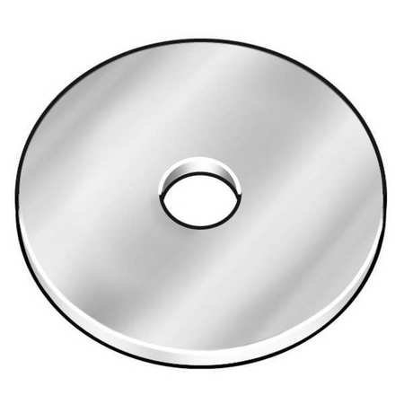 1/4'' x 1-1/4'' OD Zinc Plated Finish Low Carbon Steel Fender Washers, 2300 pk. by Materro