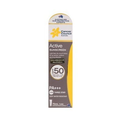 Cancer Council Australia Spf50 Pa+++ Active Sunscreen Lotion 75ml by - Stores Cancer Council