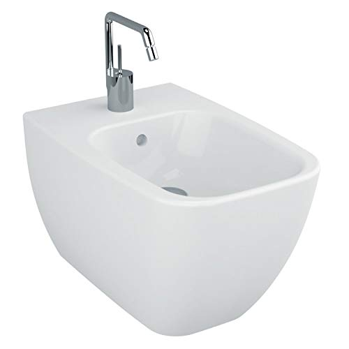 Nameeks Vitra 4394-003-0288-638845330954 Shift Collection Upscale Wall Mount Ceramic Bidet, White