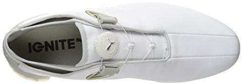 PUMA Mens TT Ignite Premium Disc Golf Shoe White/Gray/Violet JoorFilQt