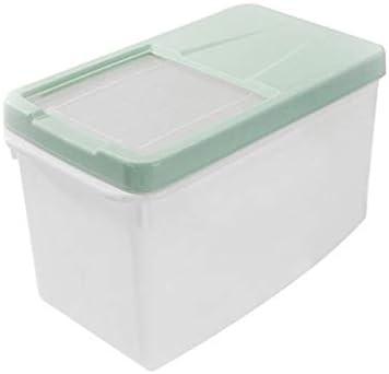 Estuche de almacenamiento de alimentos para mascotas Contenedor sellado A prueba de humedad A prueba de insectos Mantenga la caja de almacenamiento de grano fresco Cubo para comida de perro gato,Green: Amazon.es: