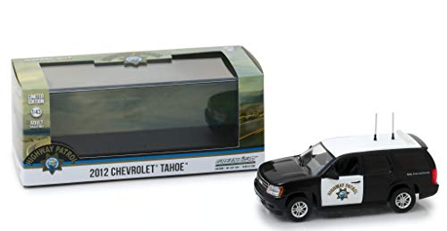 2012 Chevrolet Tahoe California Highway Patrol Black and White 1/43 Diecast Model Car by Greenlight 86098