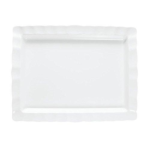 Carlisle 794802 Displayware Melamine Rectangular Scalloped Platter, ()