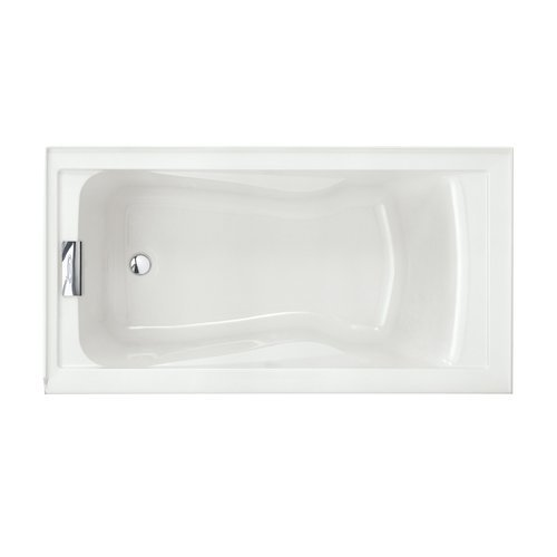 American Standard 2425V-LHO002.020 Evolution 5-Feet by 32-Inch Deep-Soak Bathtub with Apron Left Hand Drain Outlet, White (Enameled Steel Tub Freestanding compare prices)