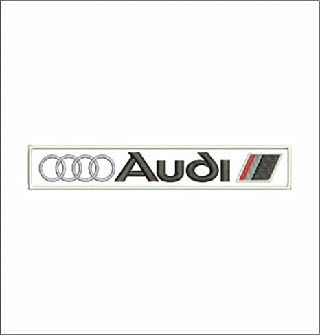 Audi Custom Personalised Embroidered SEW ON  Name Tag PATCH Classic Car