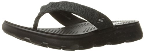 (Skechers Performance Women's On The Go 400 Vivacity Flip Flop, Black, 10 M US )