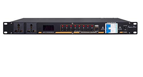 8 Relay Pack Channel - Power Sequencer -Professional Power Controller Relay with 8 way,40A per channel/10 Outlets