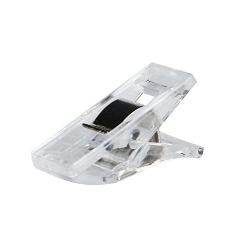 Iuhan 50 PCS Clear Sewing Craft Quilt Binding Plastic Clips Clamps Pack - You How Measure Do Eyeglasses