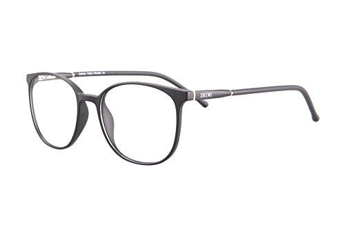 SHINU TR90 Lightweight Frame Progressive Multifocus Reading Glasses-SH079(matte black, up 0.50 down 2.00) ()