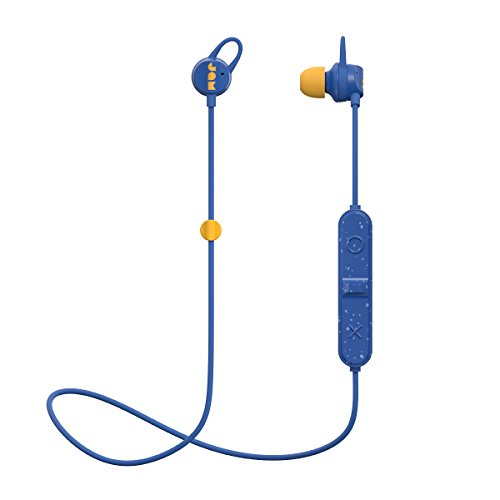 Sweat Resistant Wireless Bluetooth Earbuds | 6 Hour Playtime, Hands-Free Calling, Magnetic Cord Management, Lightweight Design | JAM Live Loose Sport Headphones Blue