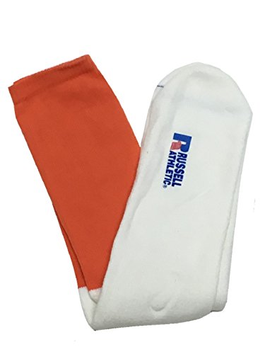 Men Russell Athletic Sport Soccer Baseball Sock Size M,L,XL 12 Pairs (M, Burnt - Burnt 12 Football Orange