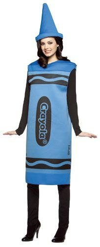 (Blue Crayola Crayon Costume - Large/XL - Chest Size)