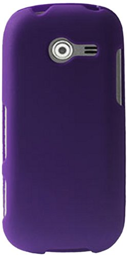 Reiko RPC10-SAMM390PP Slim and Durable Rubberized Protective Case for Samsung Array M390 - Retail Packaging - Purple (Samsung M390 Phone Case)