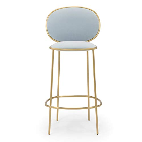 - 29 Inch Metal Bar Stools - Suede Seat Cushion Barstools Chair Dining Chairs for Kitchen Island or Counter | Pub | Café, Gold Metal Finish Max. Load 200 kg