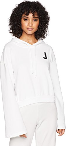 Juicy Couture Womens French Terry Logo Hoodie White (Juicy Womens Tees)