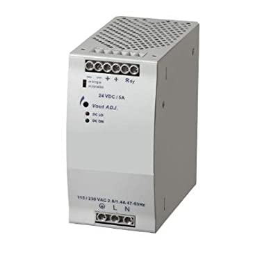 RADWELL VERIFIED SUBSTITUTE 1606-XLB120E-SUB Replacement of Allen Bradley 1606-XLB120E, Power Supply, 90-265V AC Input 24V DC Output, 120 WATTS, 5A