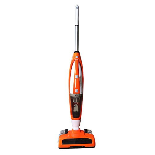 EVERTOP 3-in-1 Cordless Stick Vacuum Cleaner, with Detachable Hand Vacuum with HEPA Filtration, Lightweight Rechargeable Bagless Stick and Handheld Vacuum Swivel Mop Floor Cleaner (Orange) by EVERTOP