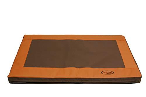Mud River Memory Foam Crate Cushion, Brown, Medium/Large ()