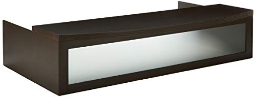 - Mayline ARDTCLDC Aberdeen Transaction Counter for use with Reception Desk, sold separately, Mocha Tf