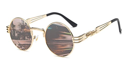 GAMT Fashion Classic Steampunk Round Sunglasses Metal Frame for Women - Sunglasses Cheapest Sale