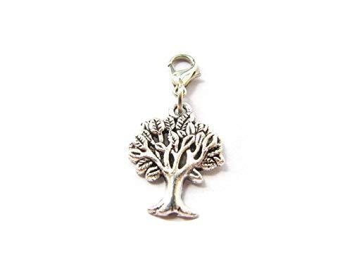 Tree of Life Charm Clip - Keychain Charm - Zipper Pull - Bracelet Charm (Tree 1.8cm) ()