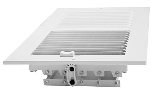 Accord AASWWH2126 Sidewall/Ceiling Register with 2-Way Aluminum Design, 12-Inch x 6-Inch(Duct Opening Measurements), White by Accord Ventilation (Image #3)