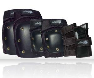 SDS Skateboards Armor 7500 Adult Pad Set Knee, Elbow, Wrist with Net Bag Size Medium M