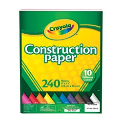 Construction Paper Assorted (Crayola Construction Paper, 240 Count, Assorted Colors)