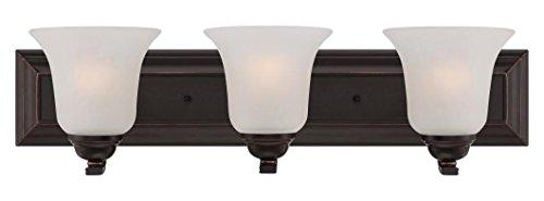 (Elizabeth - 3 Light Vanity Fixture W/ Frosted Glass)
