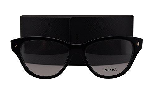 Prada PR23SV Eyeglasses 52-17-140 Black 1AB1O1 - Glasses Frames Cateye Prada