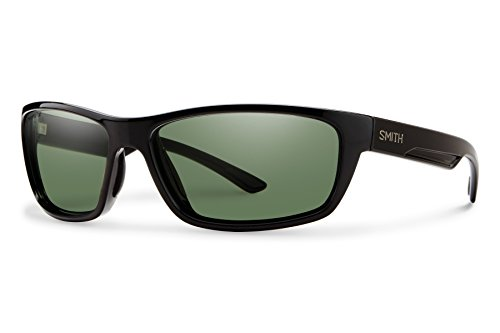 Smith Ridgewell ChromaPop+ Polarized Sunglasses, Black, Gray Green (Techlite Glass Lens)
